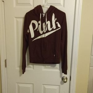 PINK zip up hoodies